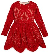 Bardot Junior Girls' Embroidered Lace & Mesh Dress - Sizes 4-7