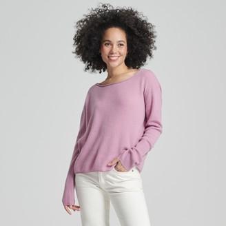 Naadam Cashmere Boatneck Sweater Purple Orchid