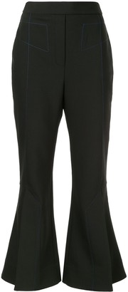 Ellery Flared Cropped Trousers