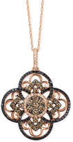 LeVian Le Vian Diamond Clover Pendant Necklace in 14k Rose Gold (7/8 ct. t.w.)
