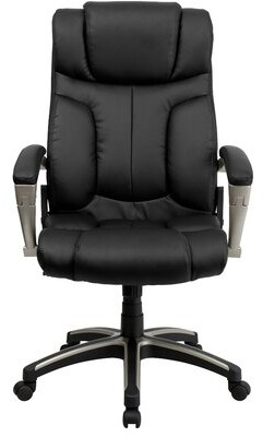 Embroidered High Back Folding Black Swivel with Arms Executive Chair Flash Furniture