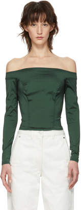 Eckhaus Latta Green Portrait Blouse