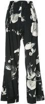 A.F.Vandevorst birds print straight trousers - women - Silk/Spandex/Elastane - 38