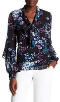 Laundry by Shelli Segal Ruffled Floral Blouse