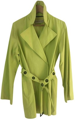 Ramosport Green Cotton Trench coats