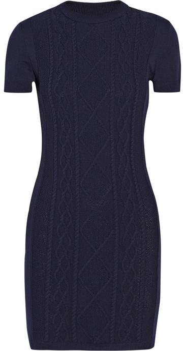 Richard Nicoll Cable-knit mini dress