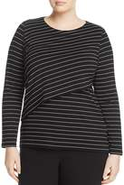 Marina Rinaldi Vanto Tiered Stretch-Jersey Top