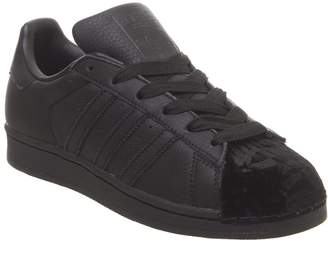 adidas Superstar 1 Trainers Black Black Velvet