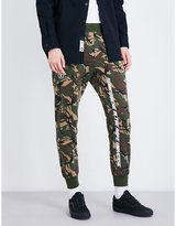 Aape Camouflage-printed mid-rise jersey jogging bottoms