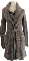 Bruno Manetti Grey Wool Coat for Women