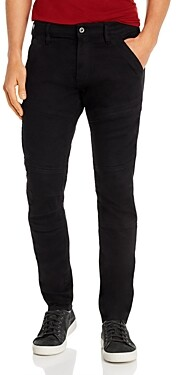 G Star Rackam 3-d Skinny Fit Jeans in Pitch Black