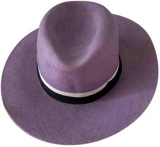Maison Michel Purple Wicker Hats