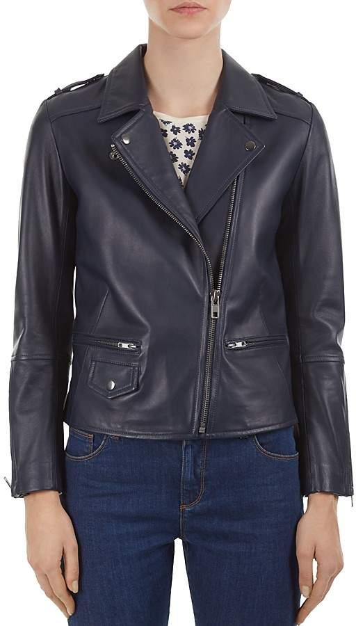 Gerard Darel Valeria Leather Moto Jacket