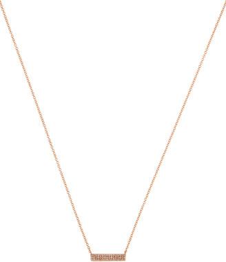 Ef Collection Jumbo Diamond Mini Bar Necklace