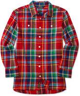 Ralph Lauren Plaid Flannel Shirt, Big Girls (7-16)