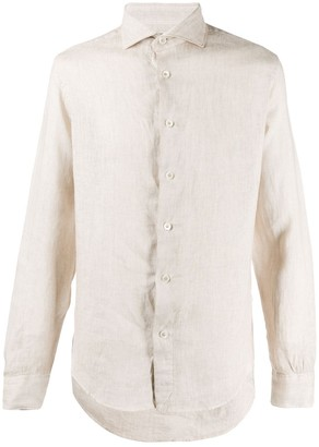 Eleventy Slim-Fit Linen Shirt