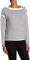 ATM Anthony Thomas Melillo Merino Wool Striped Sailor Sweater