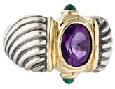 David Yurman Amethyst & Chrysoprase Renaissance Cocktail Ring