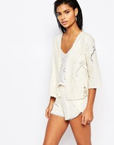Moon River Embroidered Linen Jacket