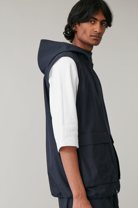Cos Hooded Cotton Vest