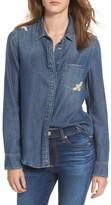 AG Jeans Women's Joanna Embroidered Denim Shirt
