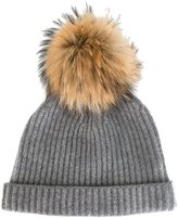 N.Peal cashmere ribbed beanie