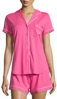 "Kate Spade Shhh!"" two-piece shorty pajama set, pink swirl"