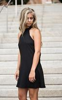 Ily Couture High Neck Midi Dress - Black