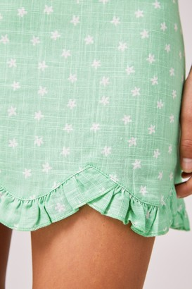 Finders Keepers WILDFLOWER SKIRT mint ditsy