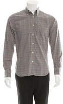 Billy Reid Check Print Button-Up Shirt w/ Tags