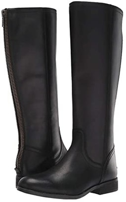 Frye Jolie Back Zip (Black Vintage Pull Up Leather) Women's Boots
