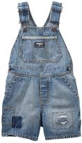 Osh Kosh Toddler Boy Patch Detail Denim Shortalls