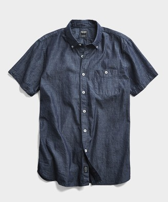 Todd Snyder Chambray Short Sleeve Shirt