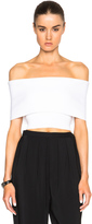 Rosetta Getty Cropped Banded Viscose Sweater