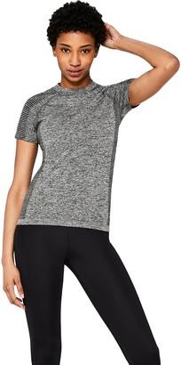 Aurique Amazon Brand Women's Seamless Sports T-Shirt