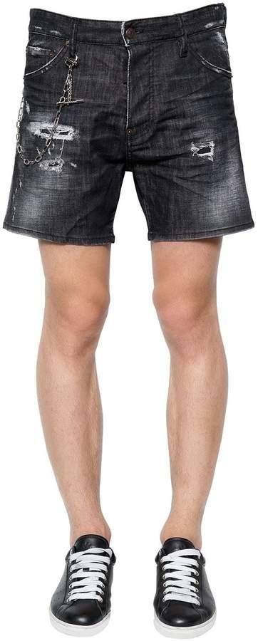 DSQUARED2 Squared Crotch Cotton Denim Shorts