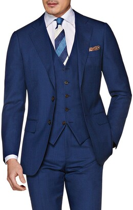 Suitsupply Solid Wool Three Piece Suit