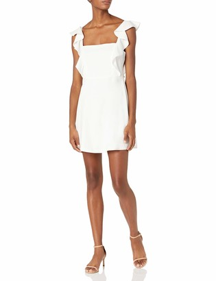 BCBGeneration Women's Cocktail Ruffle SLV SQ NK Woven Dress
