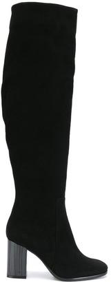 Baldinini contrast heel knee high boots