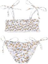 Simple pineapple print bikini - kids - Cotton - 2 yrs