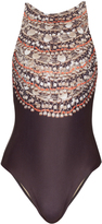 Mara Hoffman Necklace-print swimsuit