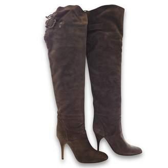 Chloé \N Khaki Suede Boots