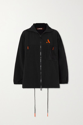 AARMY Embroidered Shell Track Jacket - Black
