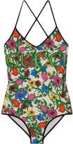 Gucci Pop Flora print swimsuit