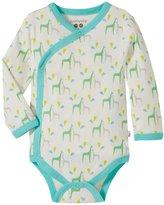 Baby Soy Organic Pattern Kimono Bodysuit (Baby) - Giraffe - 0-3 Months