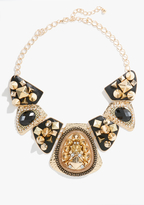 Bebe Textured Stud & Chain Statement Necklace