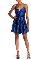 Jump Crossback Glitter Flocked Party Dress