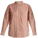 The Great The Campus striped cotton shirt