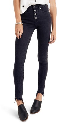 Madewell 9-Inch Button Ankle Skinny Jeans (Regular & Plus Size)
