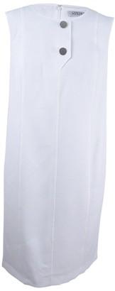 Kasper Women's Petite Size Short Sleeve Two Button Seamed Dress